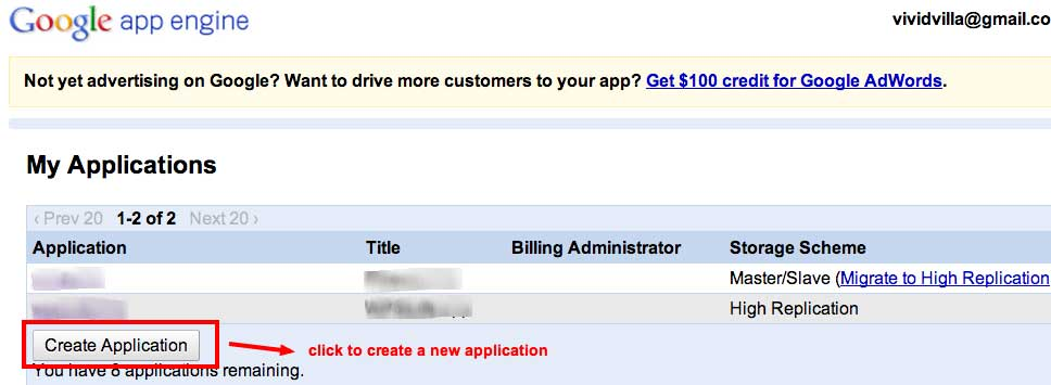 Applications-create
