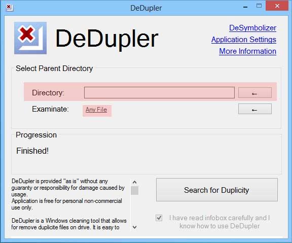 DeDupler