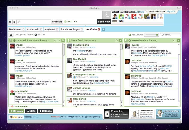 hootsuite social media monitoring