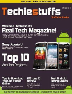 Techiestuffs Magazine Cover PSD