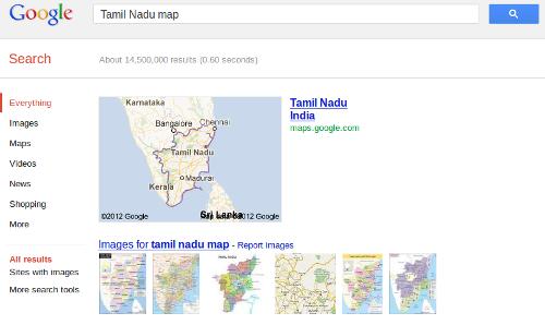 Goole search map