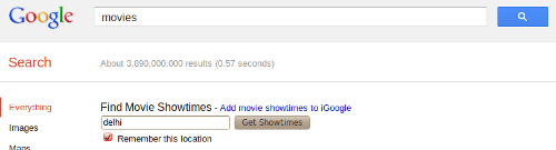 Google search Movies