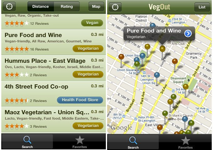 VegOut-iPhone-App