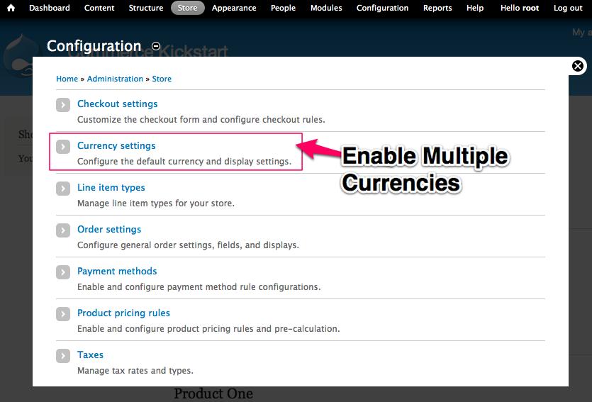 Enable Multiple Currencies 1