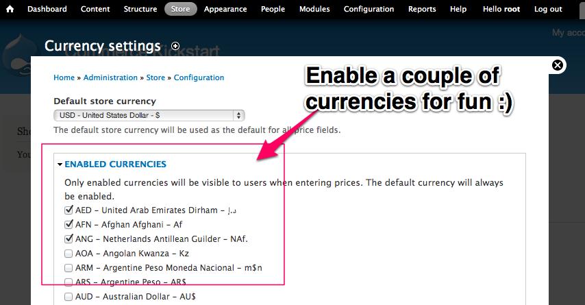 Enable Multiple Currencies 2