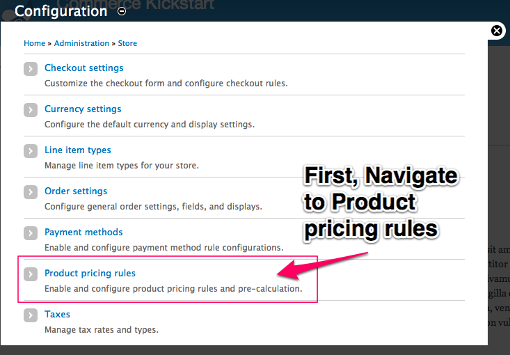 Product Pricing Rule 1