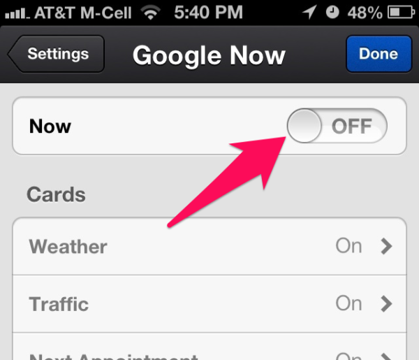 disable-google-now-iphone