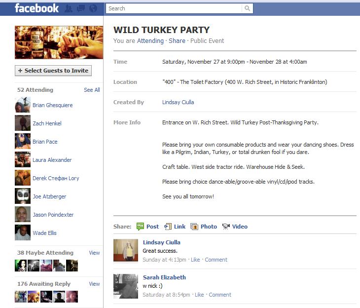 fb party invitation