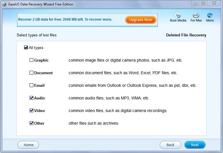 EaseUs File Types
