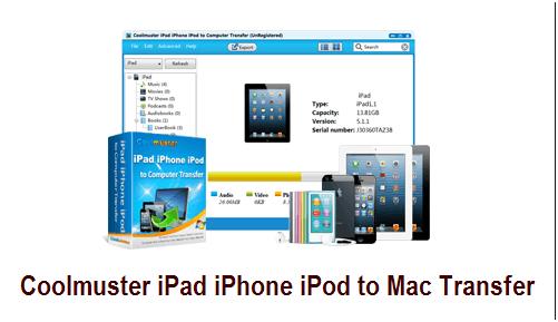 Coolmuster iPad iPhone iPod to Mac Transfer