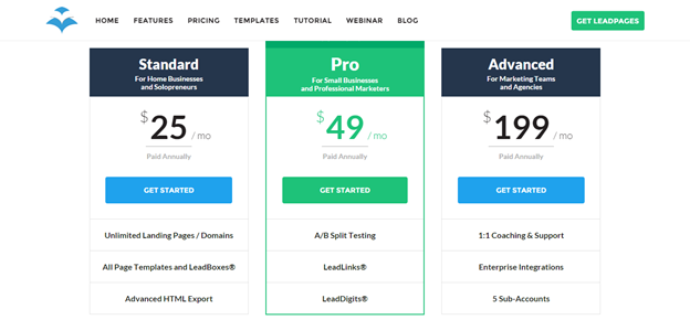 Lead Pages Pricing