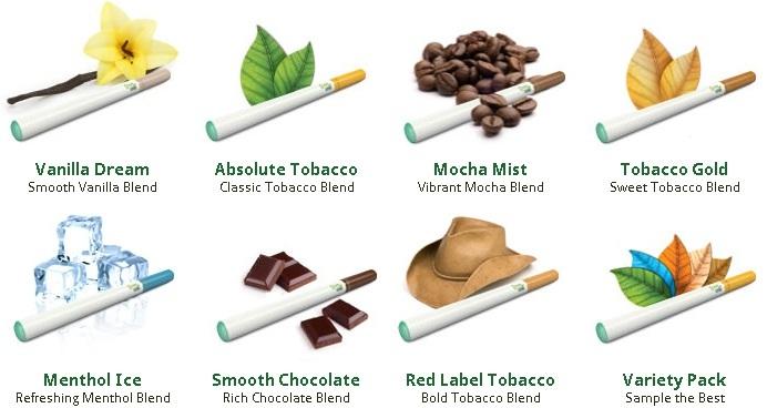 Green-Smoke-flavors