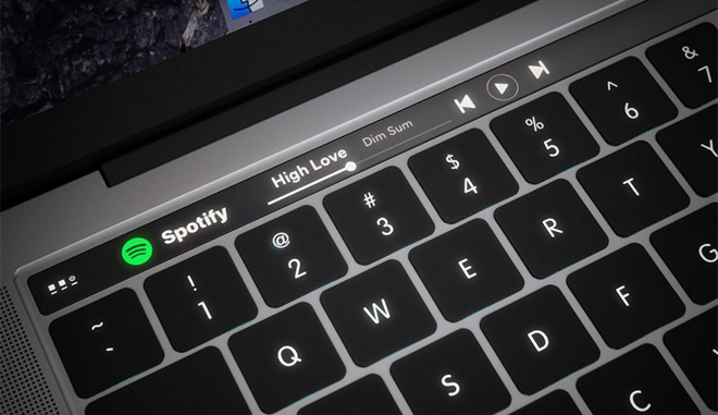 The Apple MacBook Pro Touch Bar